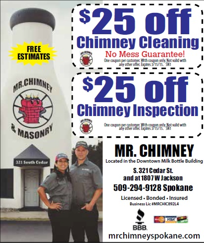 Coupons Spokane Chimney Cleaning